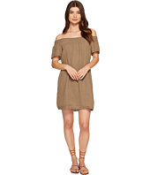 Michael Stars - Double Gauze Smocked Off Shoulder Dress