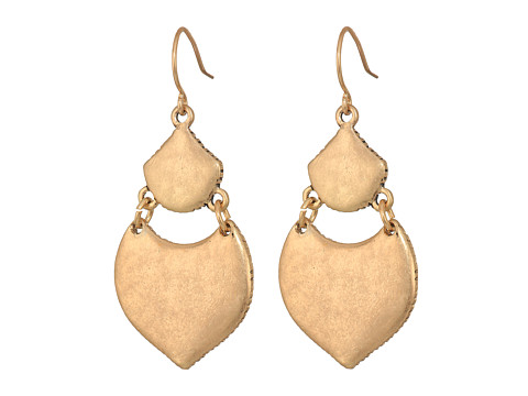 The Sak Hinged Double Drop Earrings - Gold