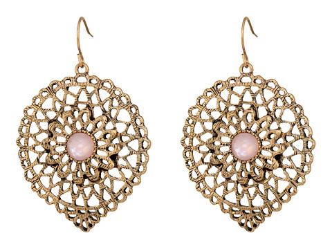 The Sak Openwork Large Drop Earrings - Pink