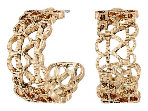 The Sak Pierced Band Hoop Earrings - Gold