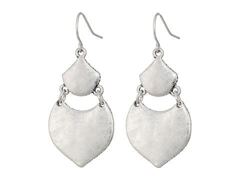 The Sak Hinged Double Drop Earrings - Silver