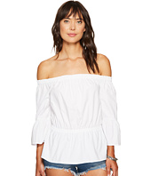 kensie - Oxford Shirting Off Shoulder Top KS6U4107