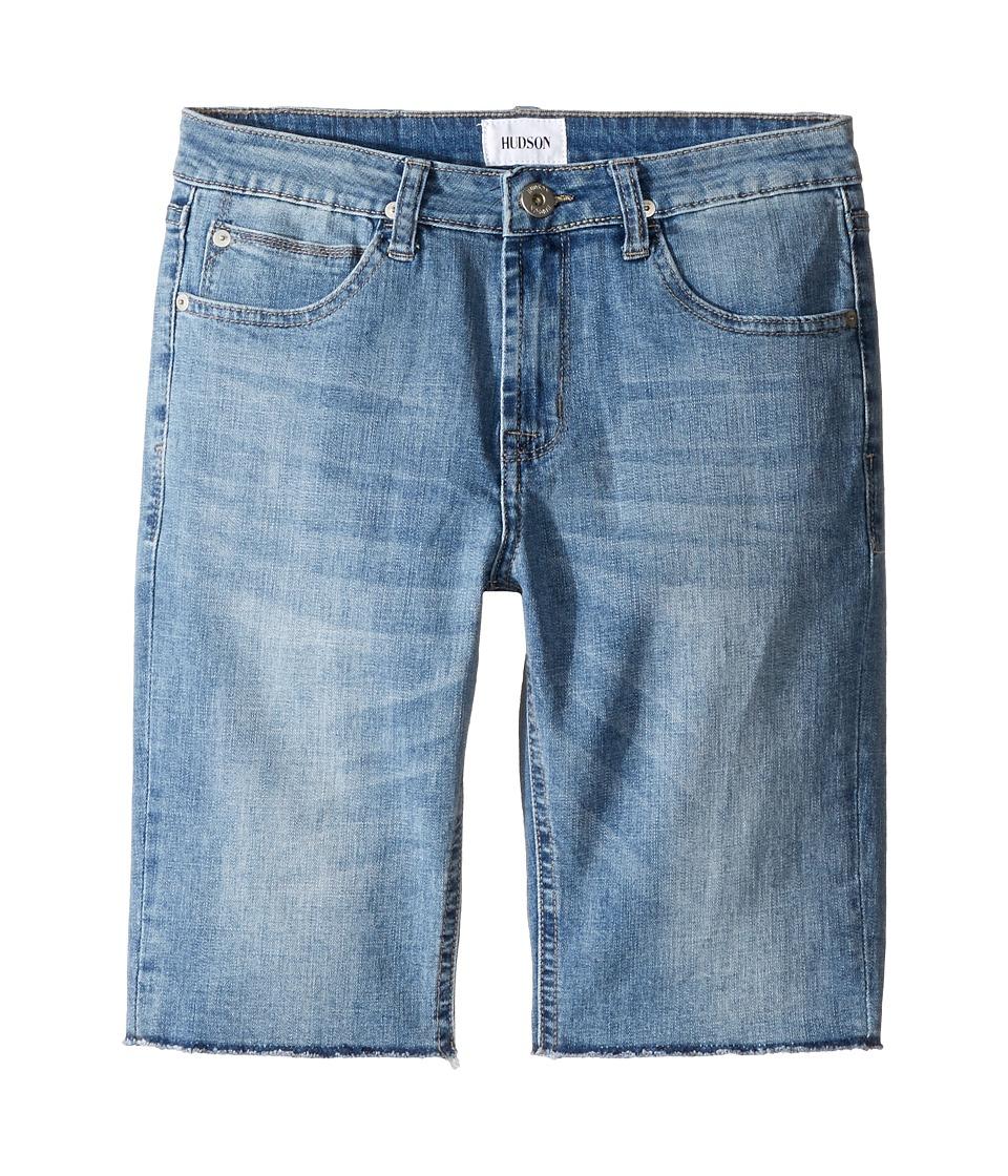 Hudson Kids - Hess Cut Off Slim Straight Shorts in Rhythm Blue