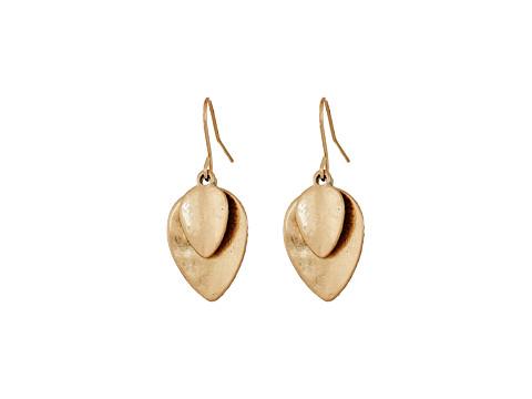 The Sak Layered Petal Drop Earrings - Gold