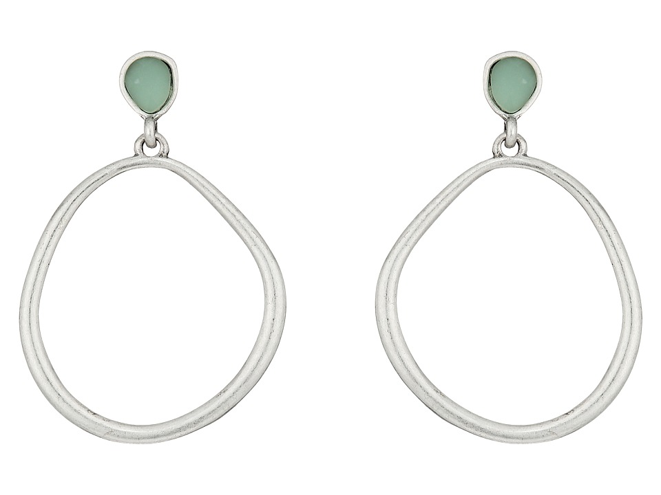 The Sak - Color Doorknocker Earrings (Amazonite) Earring