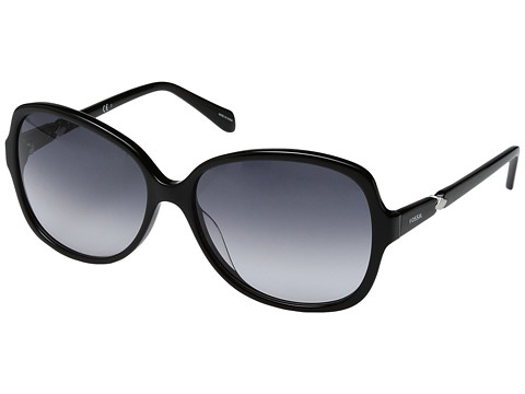 Fossil Fossil 2046/S - Shiny Black with Gray Gradient Lens