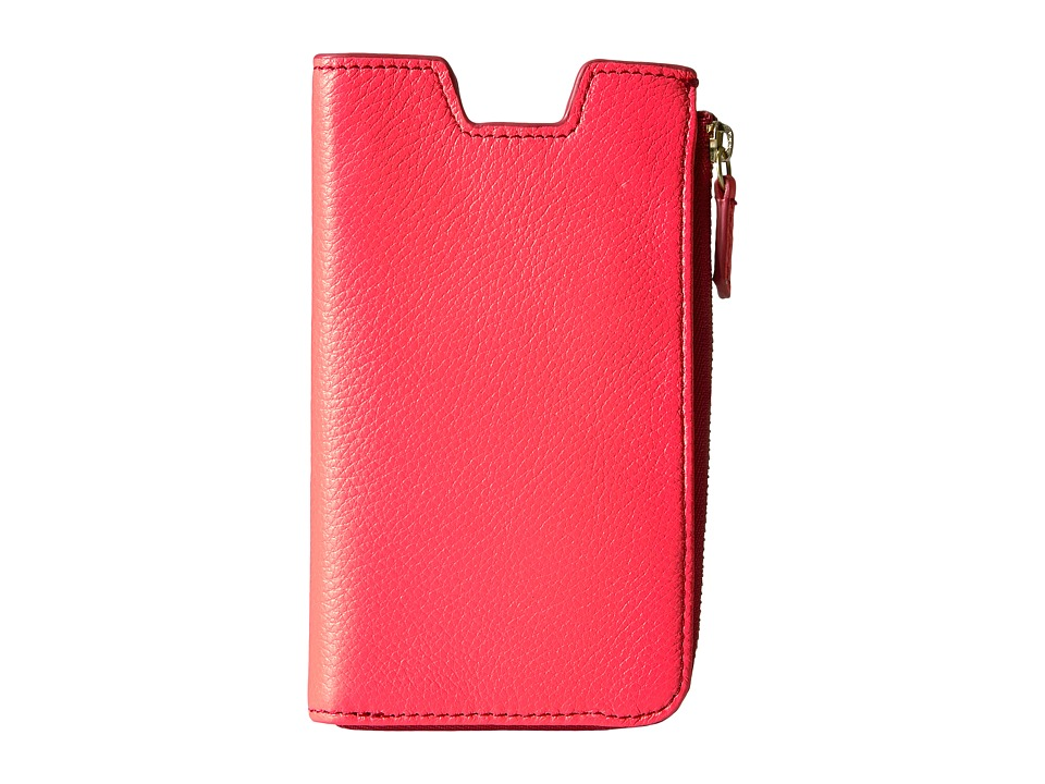 Fossil - RFID Phone Slide Wallet (Neon Coral) Cell Phone Case