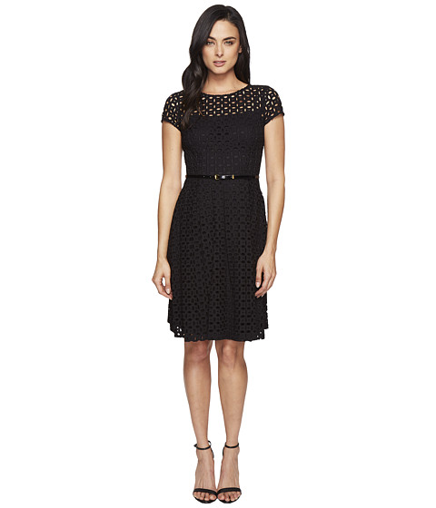 Ellen Tracy Eyelet Lace Fit & Flare