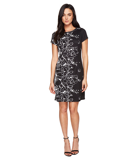 Ellen Tracy Floral Knit Sheath Dress