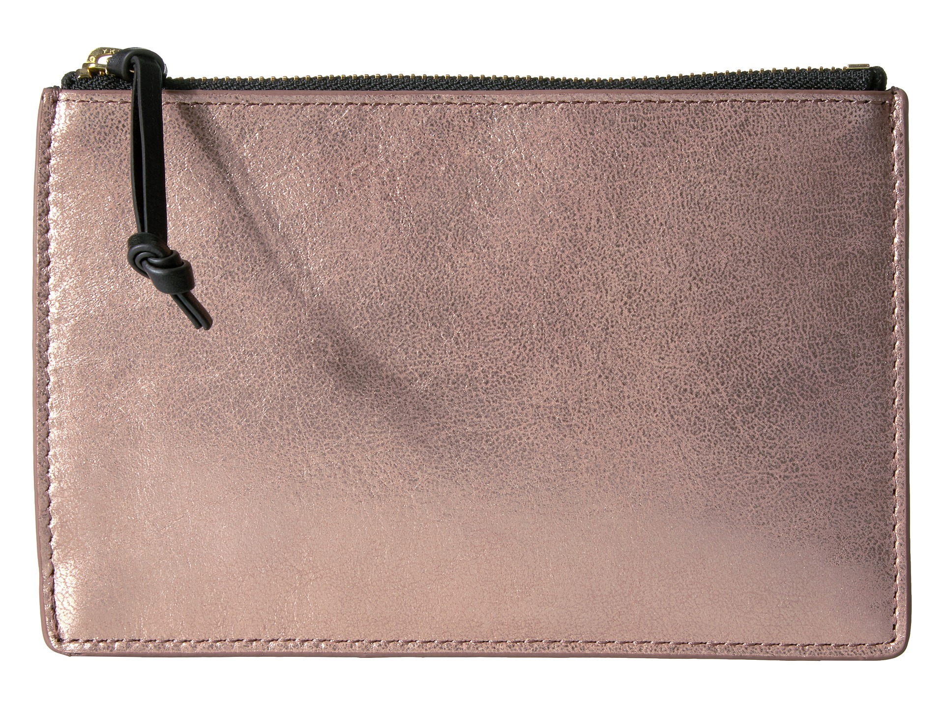 fossil rfid small pouch rose gold free. Black Bedroom Furniture Sets. Home Design Ideas
