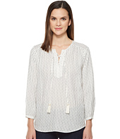 Michael Stars - Dobby Stripe Tie Up Blouse