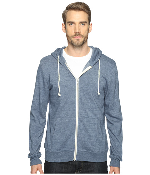 Threads 4 Thought Triblend Zip Front Hoodie - China Blue