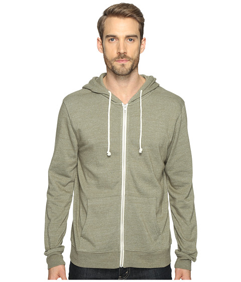 Threads 4 Thought Triblend Zip Front Hoodie - Forest
