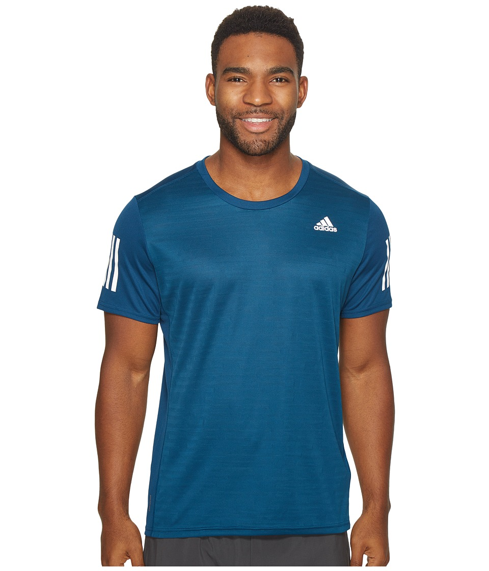 adidas Response Short Sleeve Tee (Blue Night) Men