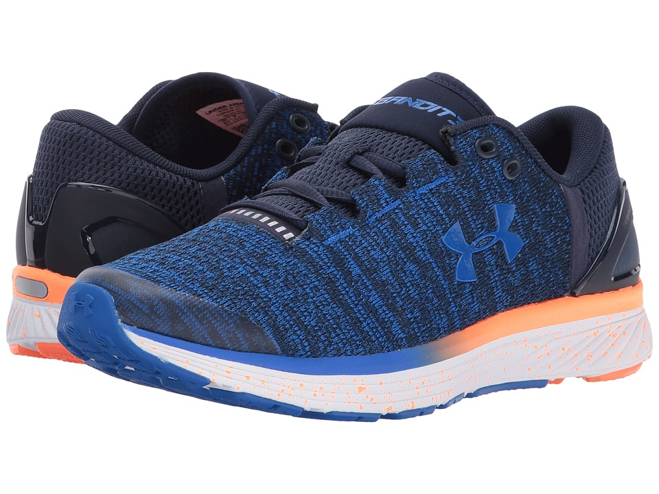 Under Armour Kids UA BGS Charged Bandit 3 (Big Kid) (Midnight Navy/Magma Orange) Boys Shoes