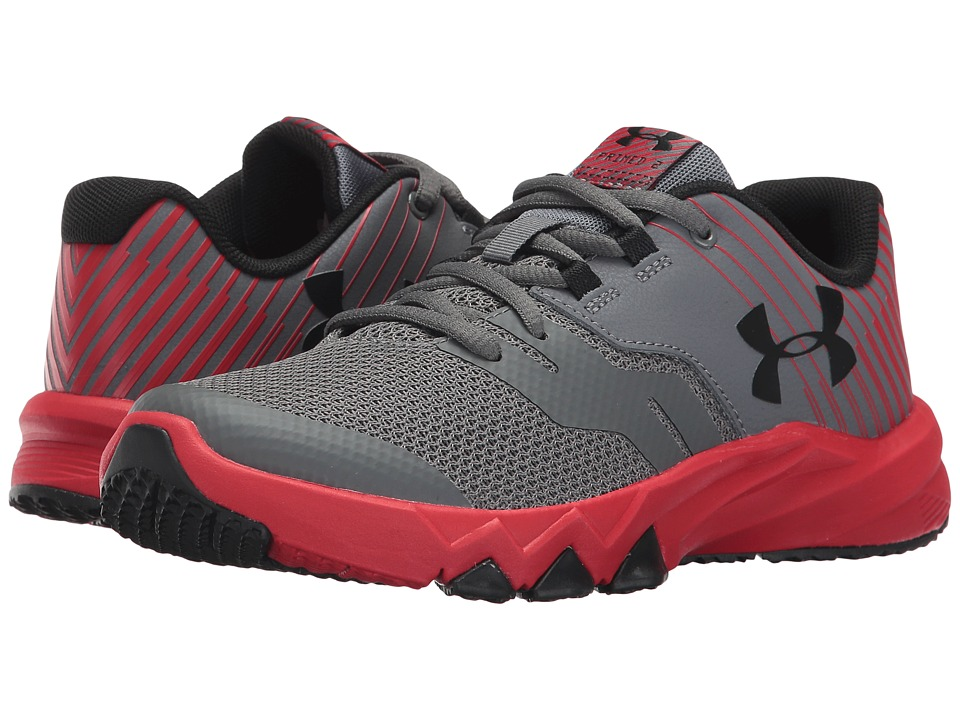 Under Armour Kids UA BPS Primed 2 (Little Kid) (Graphite/Red/Black) Boys Shoes