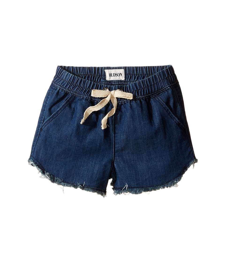 Hudson Kids - Frayed Chambray Jog Shorts in Galeon