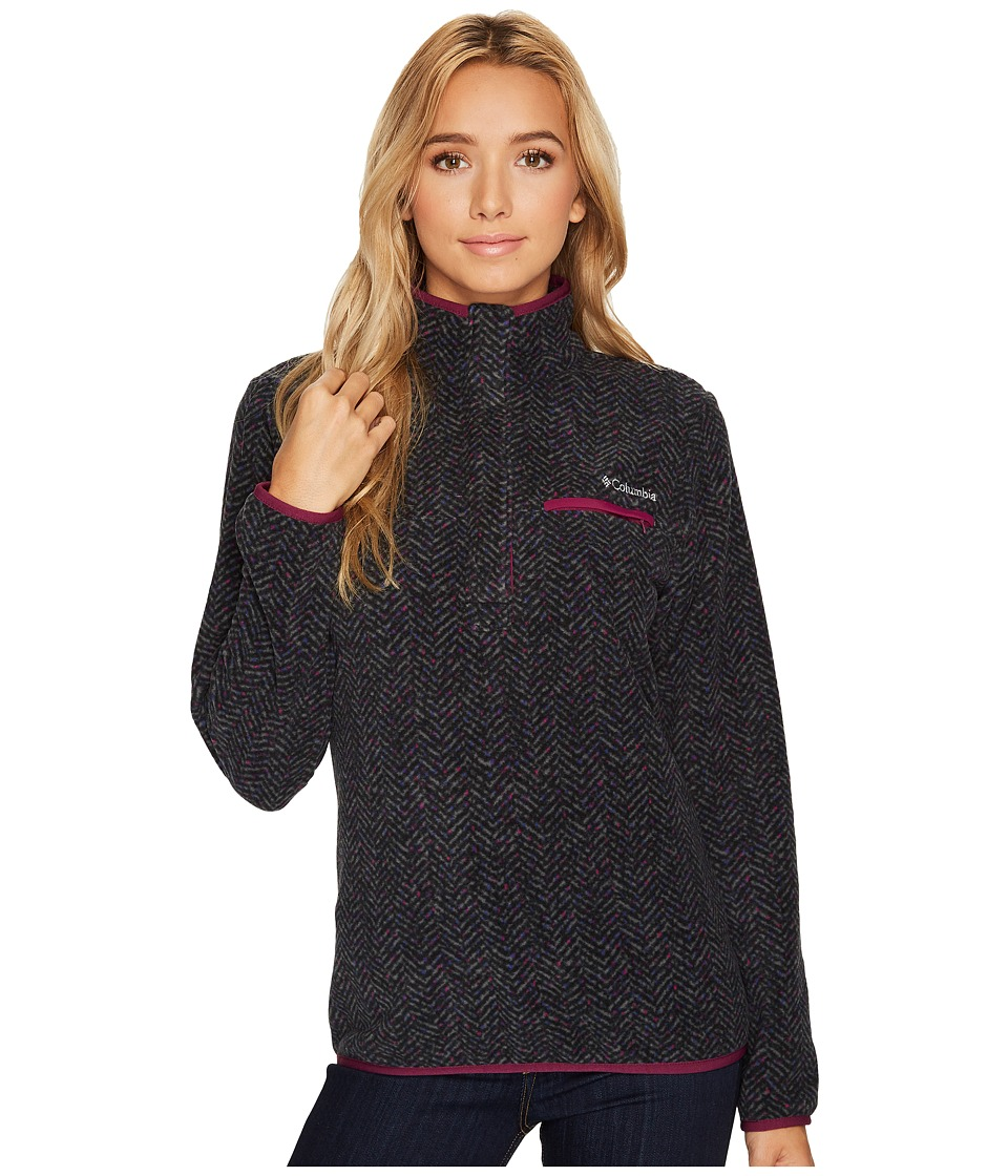 Columbia Mountain Side Printed Pullover (Black Tweed Prin...