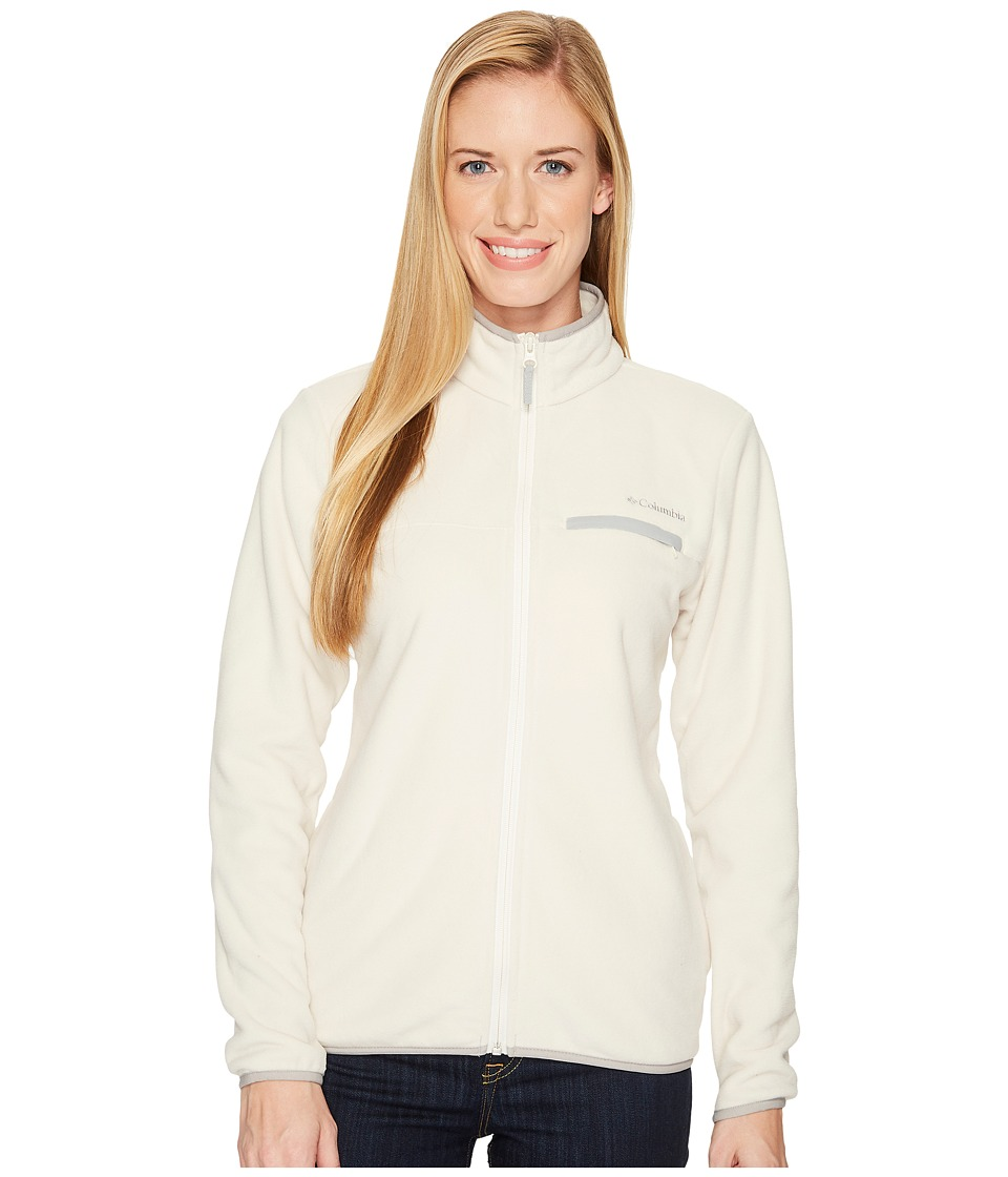 Columbia Mountain Crest Full Zip (Chalk/Columbia Grey) Women