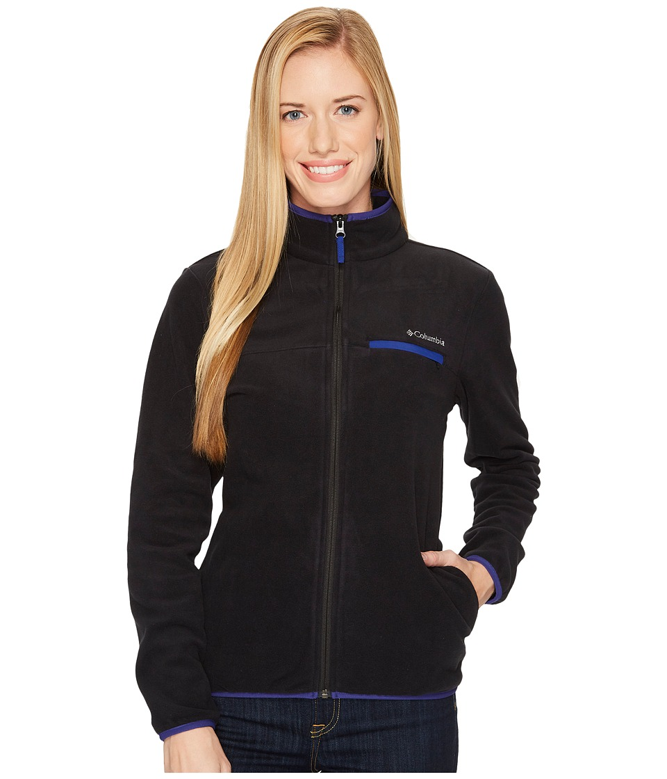 Columbia Mountain Crest Full Zip (Black/Dynasty) Women