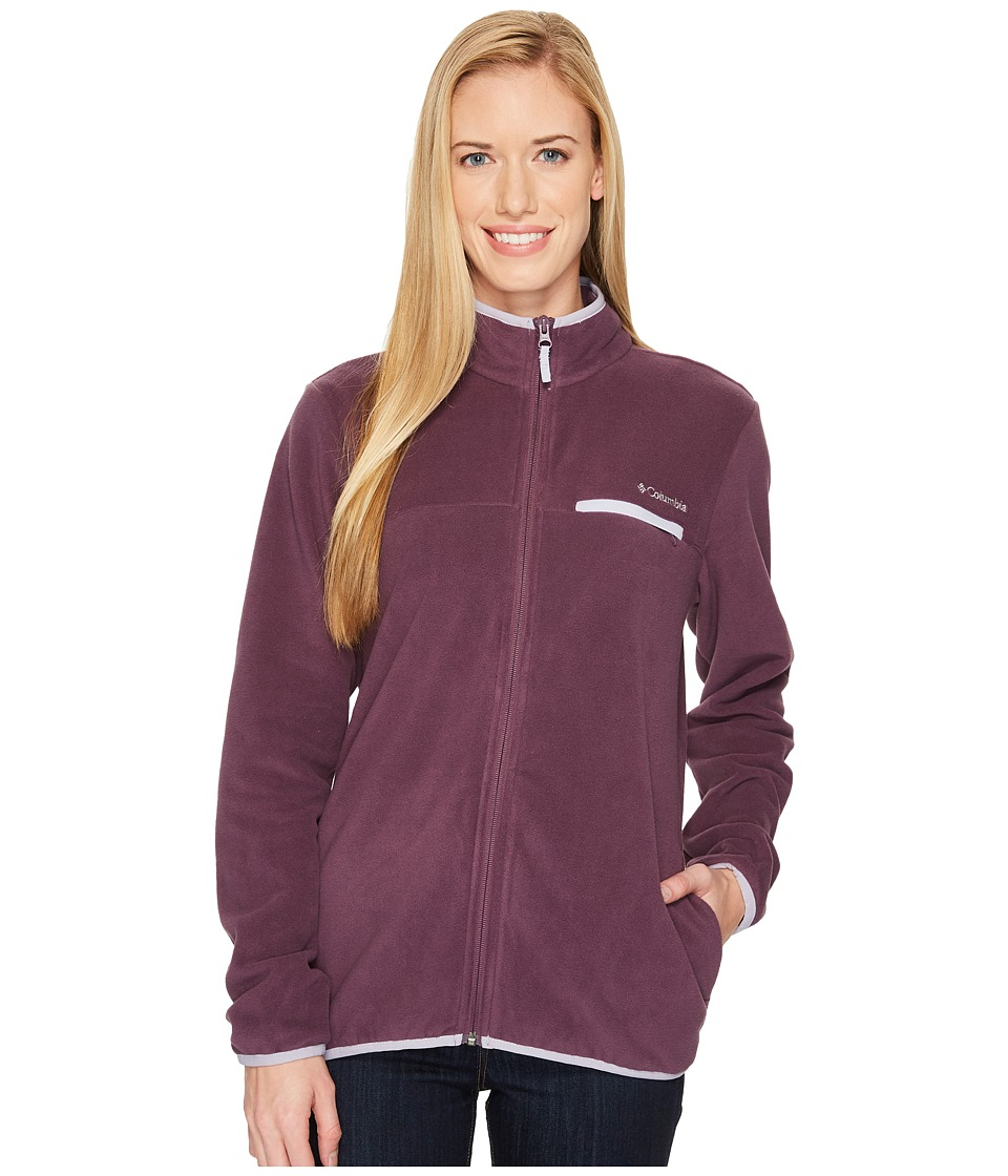 Columbia Mountain Crest Full Zip (Dusty Purple Heather/Twilight) Women