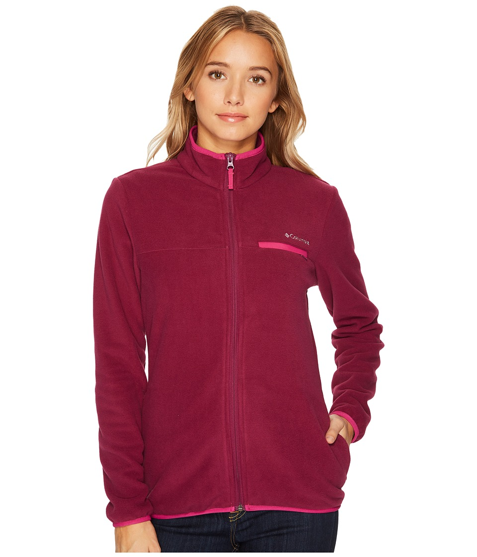 Columbia Mountain Crest Full Zip (Dark Raspberry/Deep Blush) Women