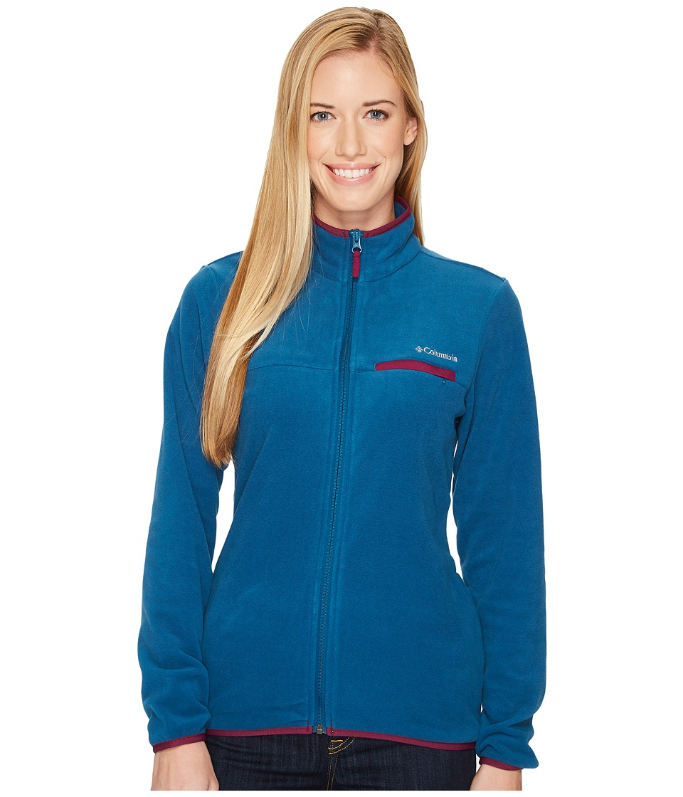 Columbia Mountain Crest Full Zip (Phoenix Blue/Dark Raspberry) Women