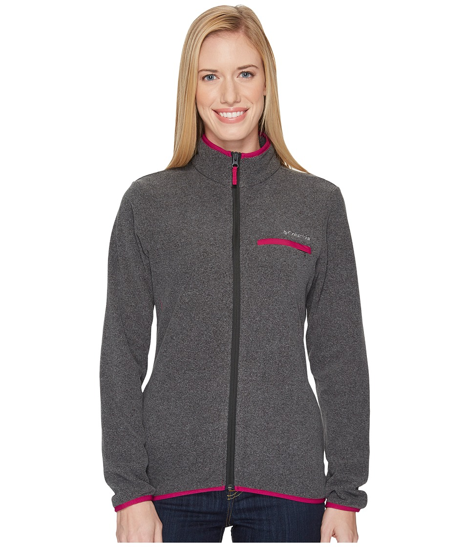 Columbia Mountain Crest Full Zip (Shark Heather/Deep Blush) Women