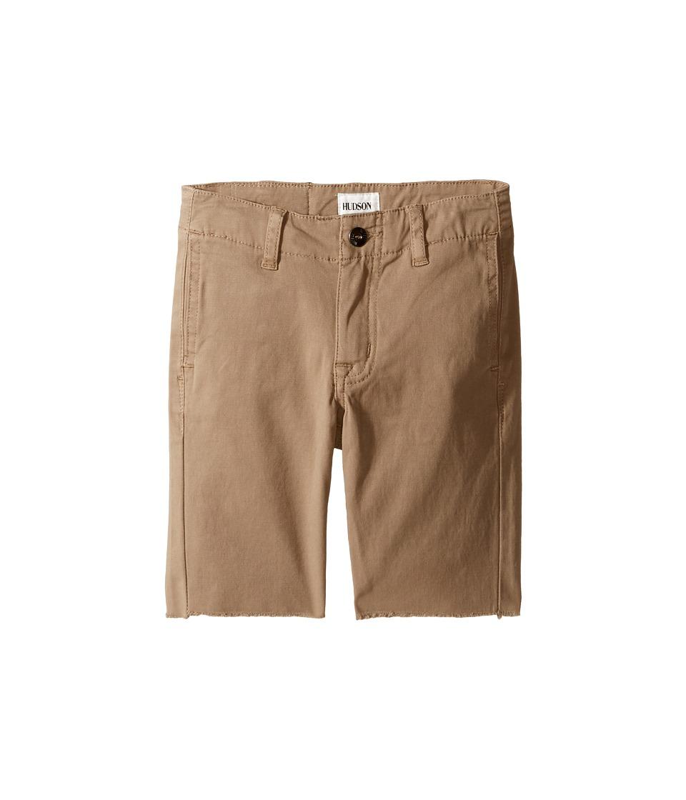 Hudson Kids - Beach Daze Raw Hem Sateen Chino Shorts in Dark Chino