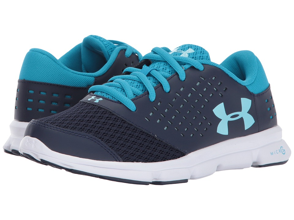 Under Armour Kids UA Micro Rave Run (Big Kid) (Midnight Navy/Blue Shift/Blue Infinity) Girls Shoes