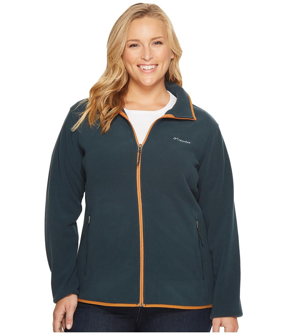 Columbia Plus Size Fuller Ridge Fleece Jacket (Night Shadow/Canyon Gol) Women