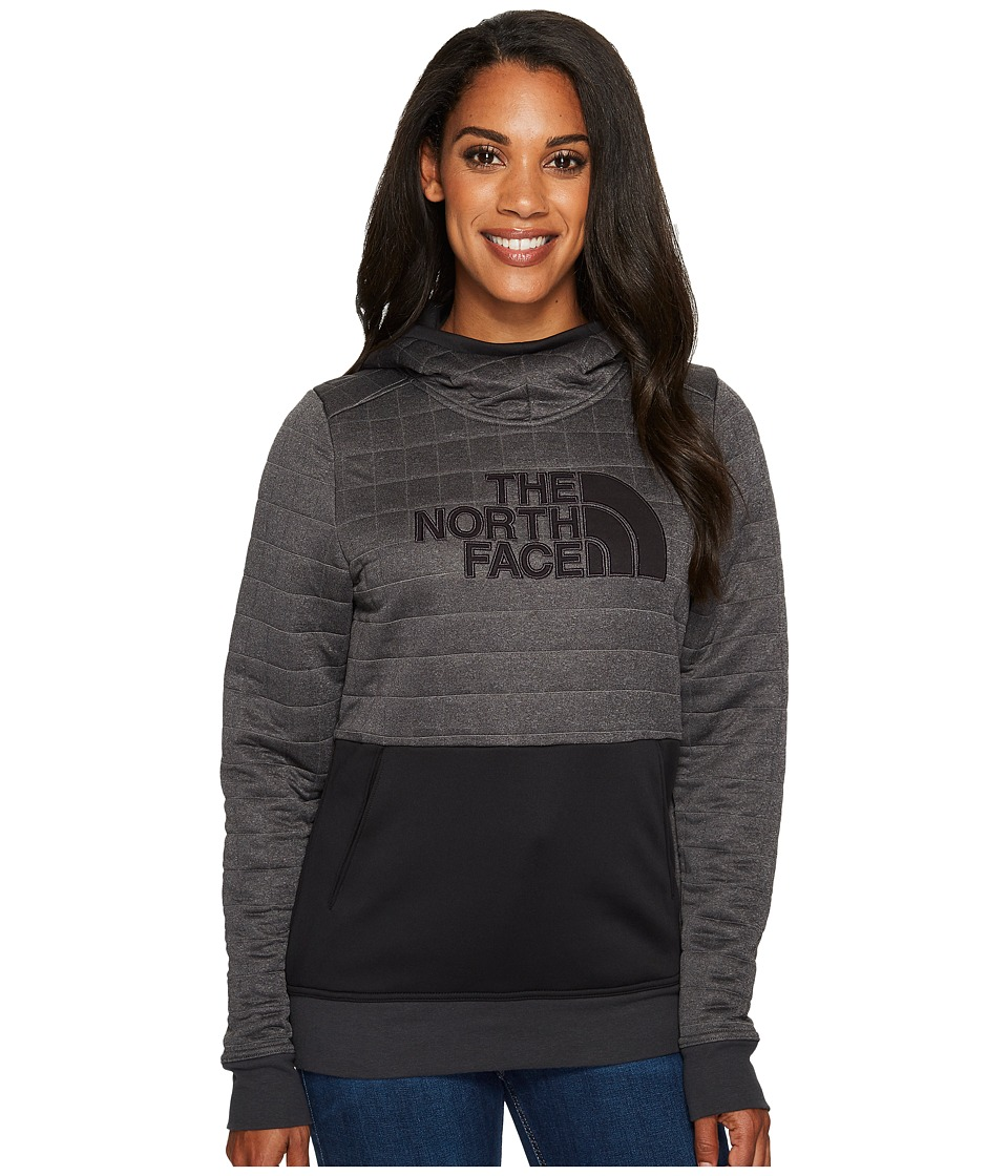 North Face Half Dome Quilted Pullover Hoodie (TNF Dark Gr...