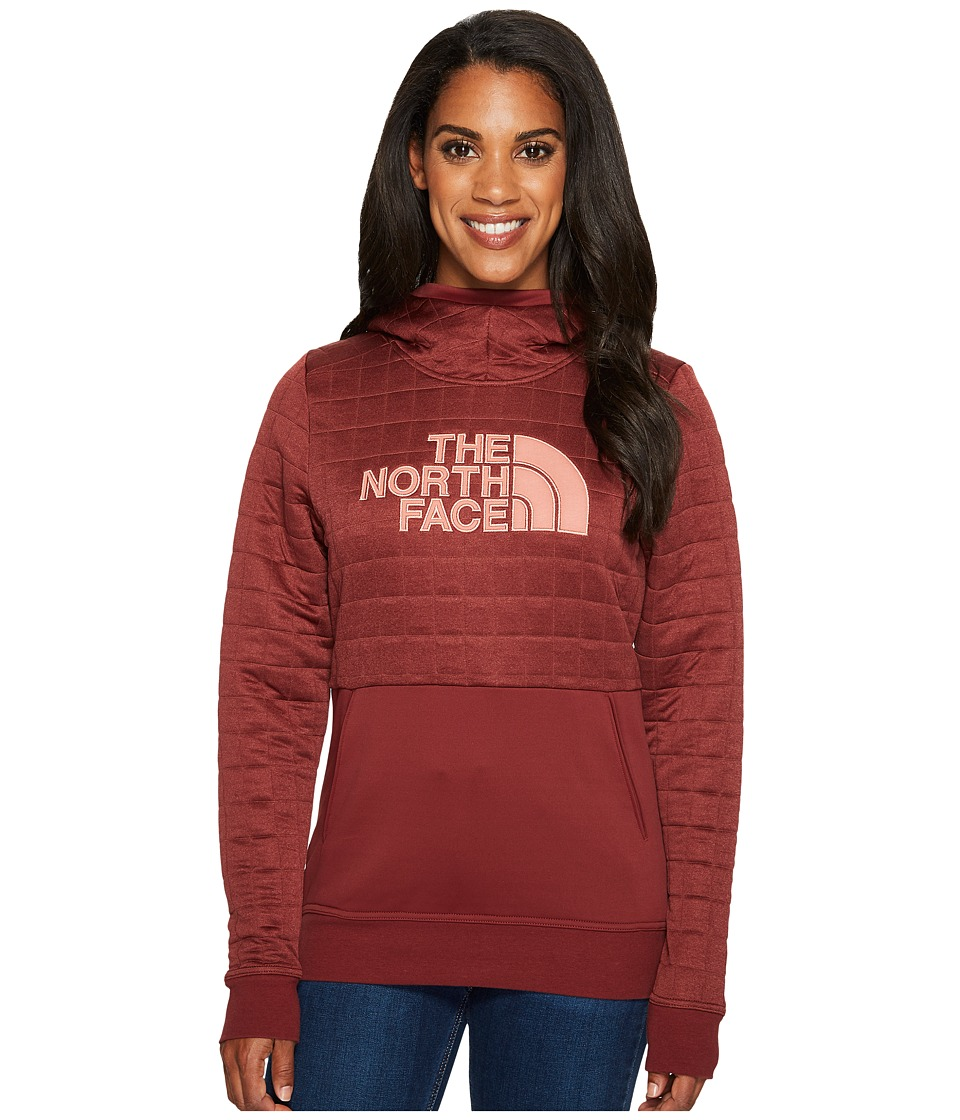 North Face Half Dome Quilted Pullover Hoodie (Barolo Red ...