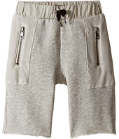 Hudson Kids - High Tech French Terry Shorts in Charcoal (Toddler/Little Kids/Big Kids)