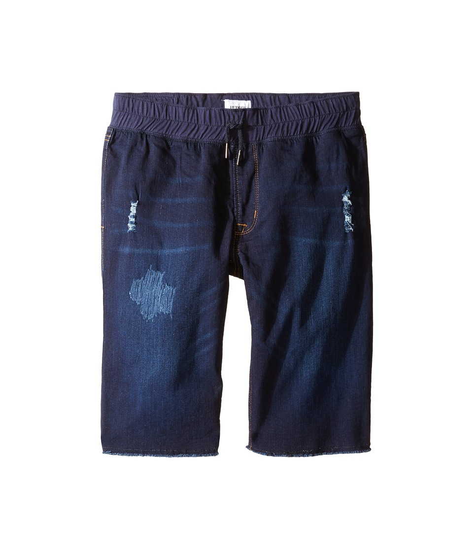 Hudson Kids - French Terry Pull-On Shorts in Power Blue