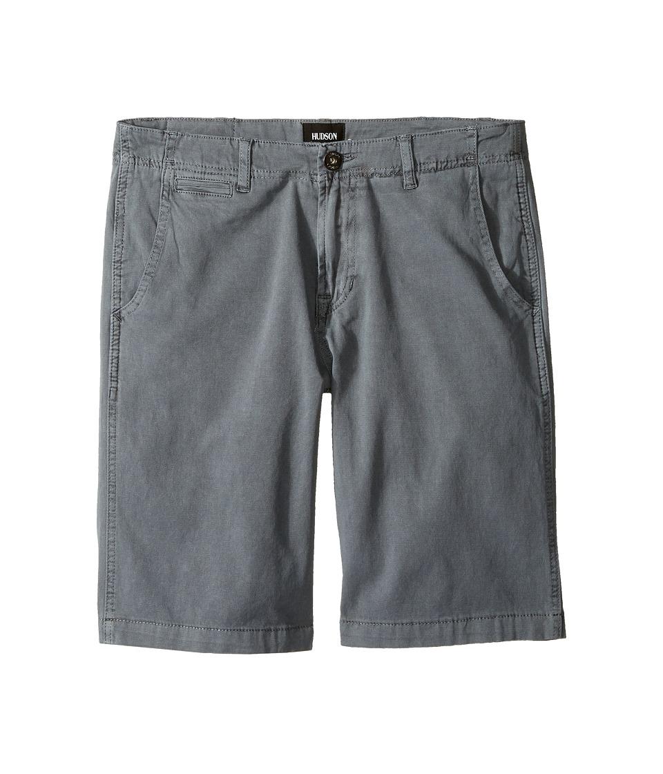 Hudson Kids - Sunny Pigment Dyed Twill Shorts in Medium Grey