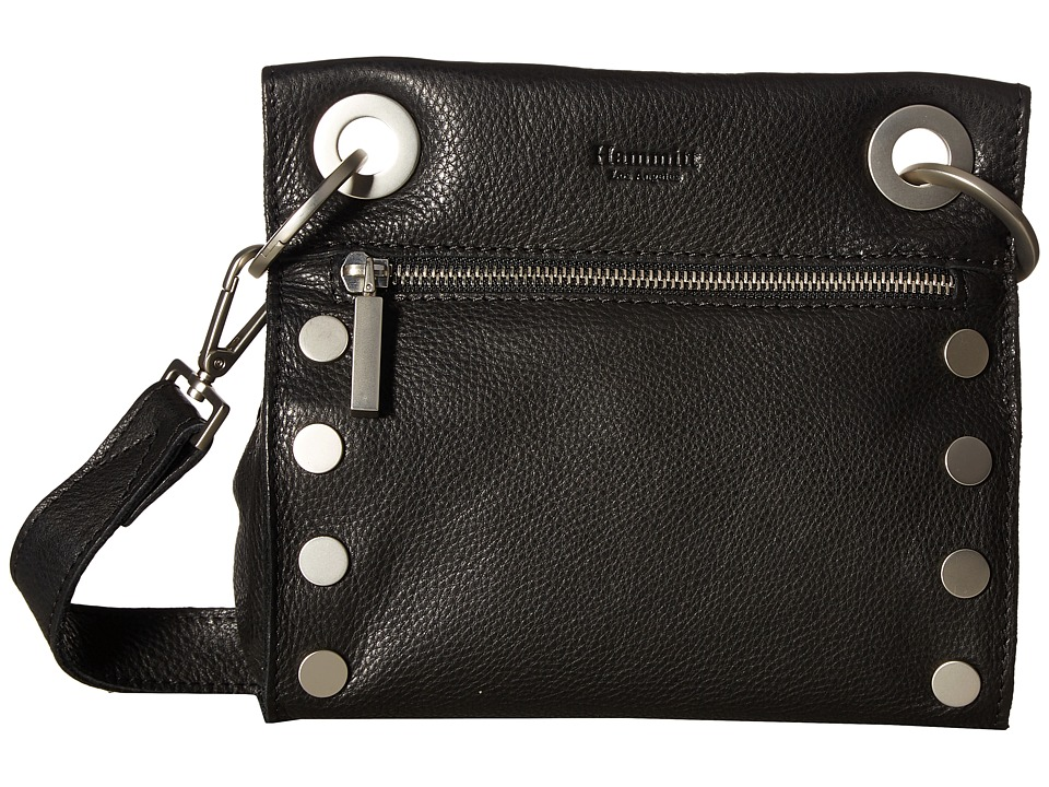 Hammitt - Tony (Black/Brushed Silver) Cross Body Handbags