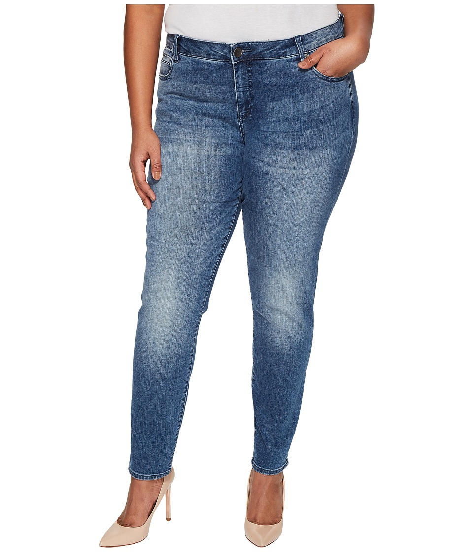 KUT from the Kloth Plus Size Diana Skinny in Ingenious/Medium Base Wash (Ingenious/Medium Base Wash) Women