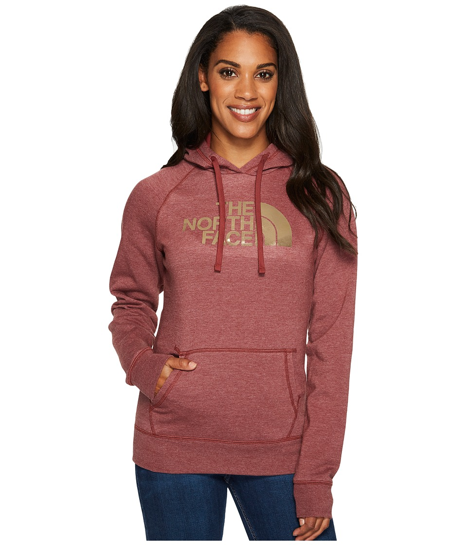 North Face Half Dome Hoodie (Barolo Red Heather/Gold Foil...