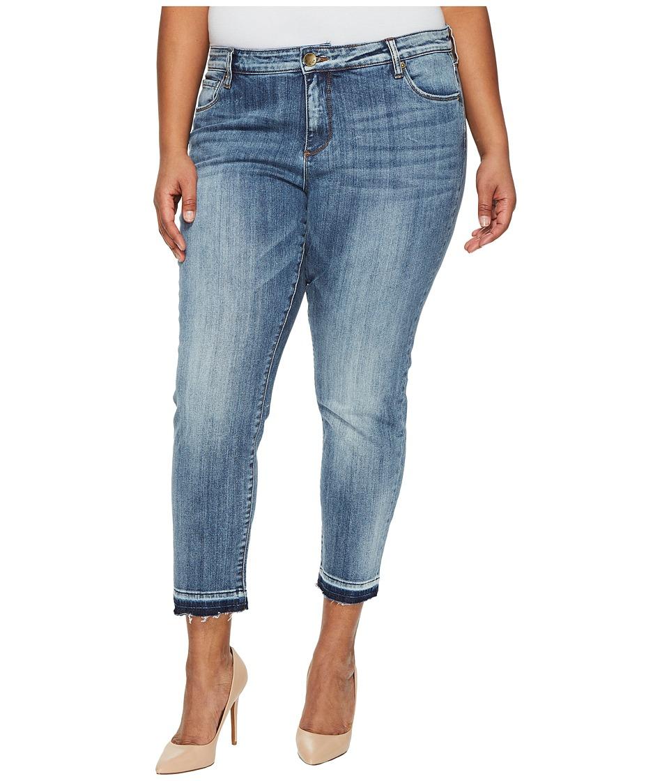 KUT from the Kloth Plus Size Reese Ankle Straight Leg in Motive/Medium Base Wash (Motive/Medium Base Wash) Women