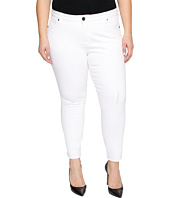 KUT from the Kloth - Plus Size Reese Ankle Straight Leg in Optic White