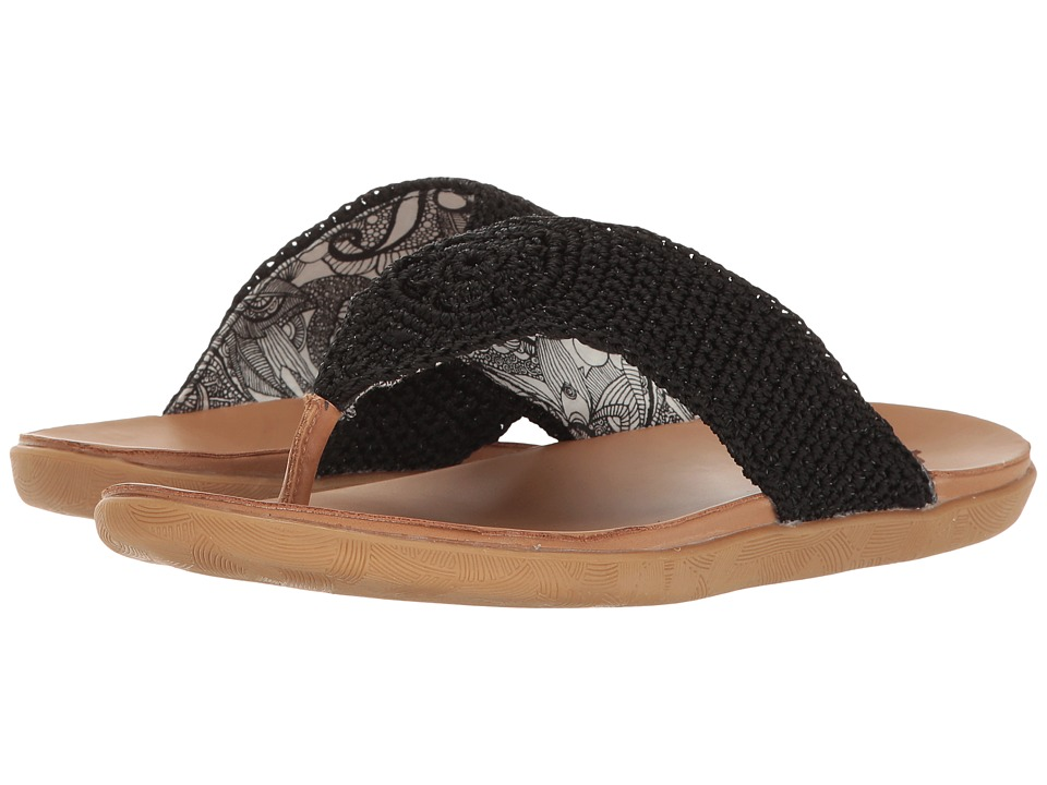 Sakroots - Sarria (Black Sparkle) Women's Sandals