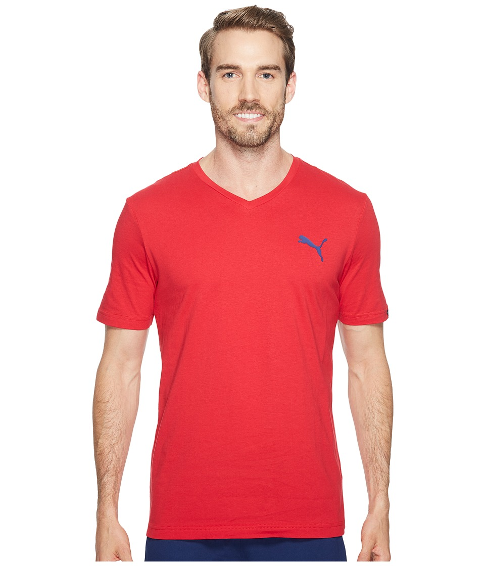 PUMA Iconic V-Neck Tee (Toreador) Men