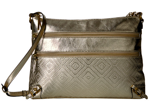 Elliott Lucca Mari 3 Zip Crossbody - New Gold