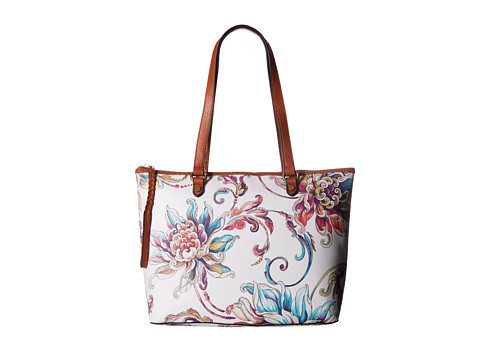 Elliott Lucca Ana Small Tote - White Wildflower