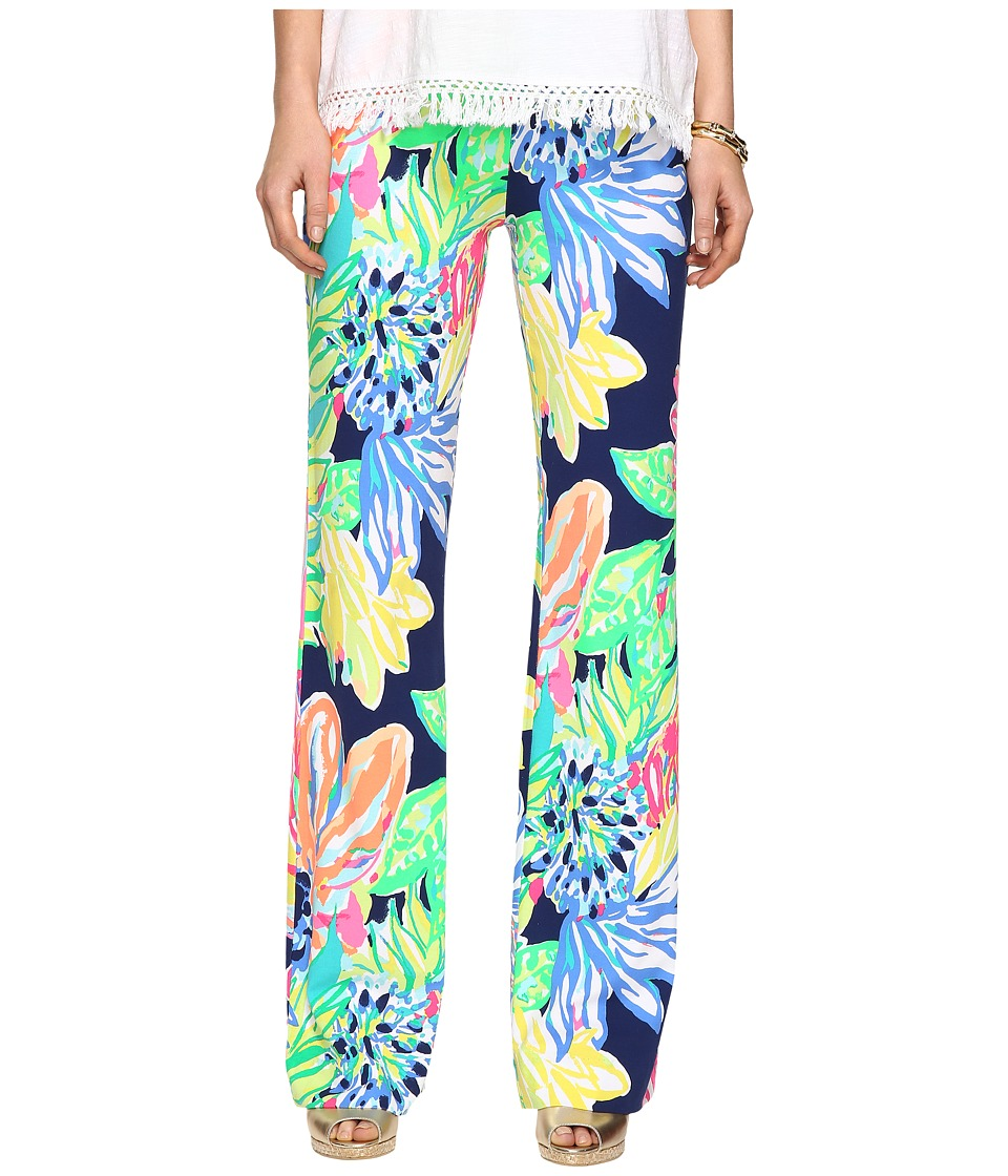 Lilly Pulitzer Georgia May Palazzo (Resort Navy Travelers Palm) Women