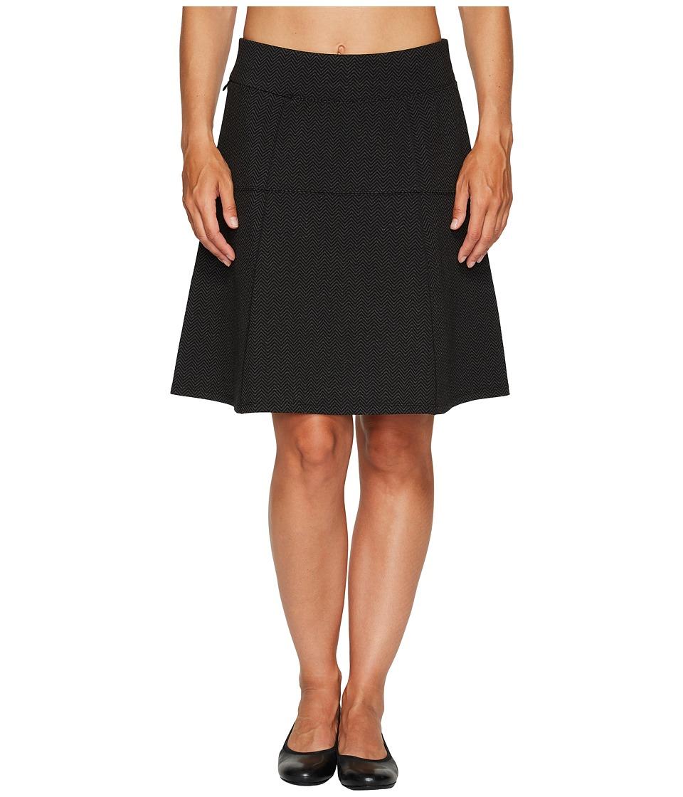 Royal Robbins Lucerne Ponte Swingy Skirt (Herringbone/Charcoal) Women