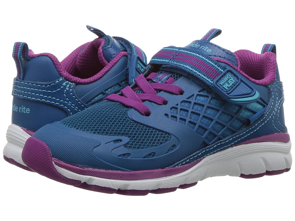 Stride Rite M2P Cannan (Toddler/Little Kid) (Blue) Girl's Shoes