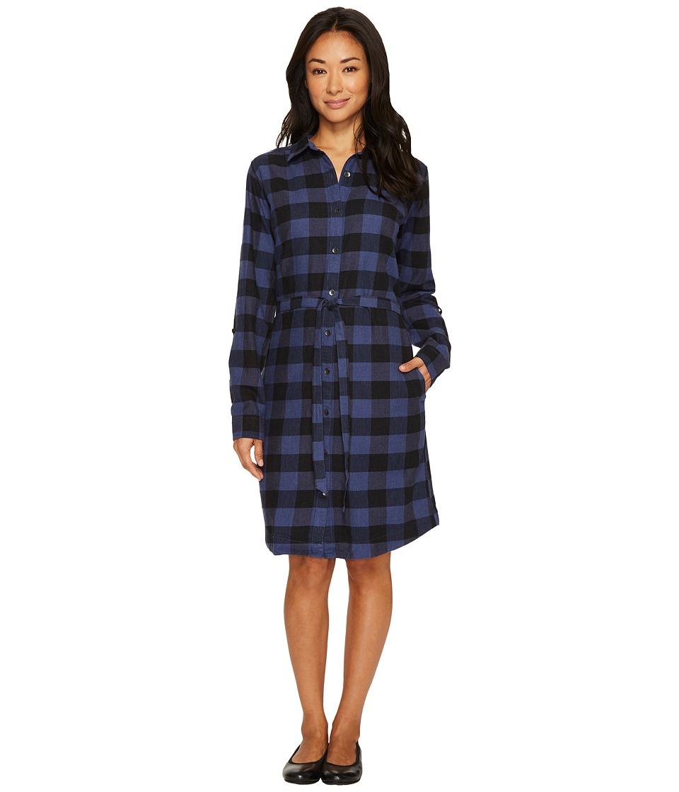 Royal Robbins Jackson Plaid Dress (Blue Indigo) Women