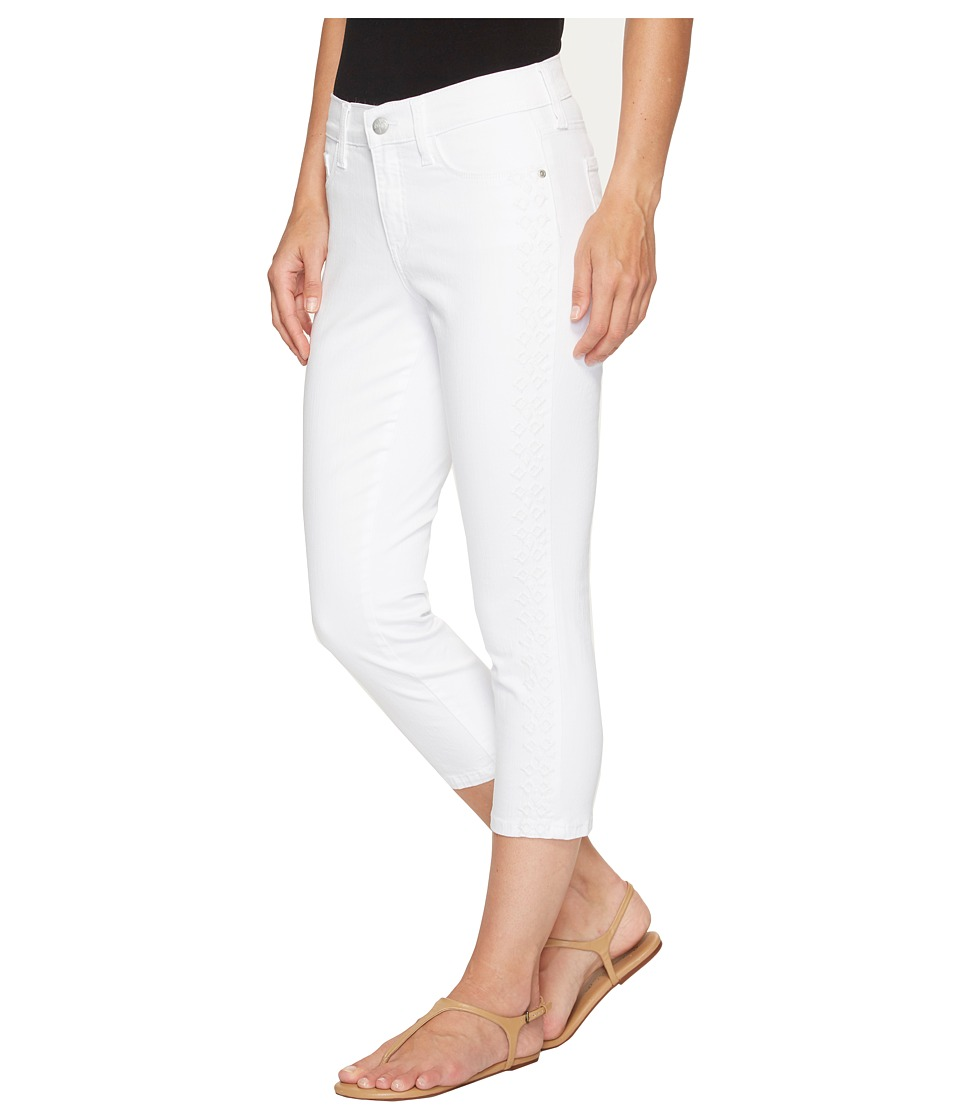 NYDJ NYDJ - Alina Capris w/ Embroidery in Optic White